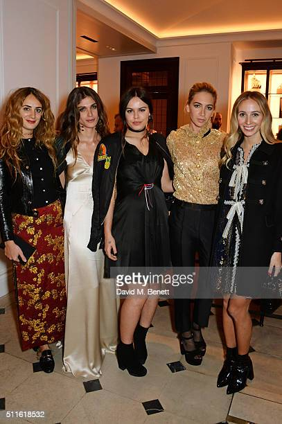 Alexia Niedzielski Elisa SednaouiDellal Atlanta de Cadenet Sabine Getty and Harley Viera Newton attend as mytheresacom and Burberry celebrate the new...