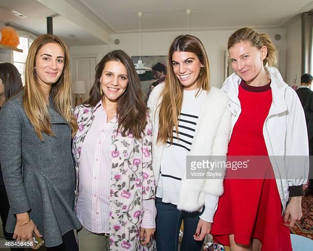Alexia Niedzielski Margherita Maccapani Missoni Amos Bianca Brandolini and Elizabeth Von Guttman attend the launch event of Margherita and Yooxcom on...