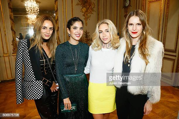 Alexia Niedzielski Noor Fares Jewelry Designer Sabine Getty and Eugenie Niarchos attend the 'Memphis' Fine jewelry collection launch as part of Paris...