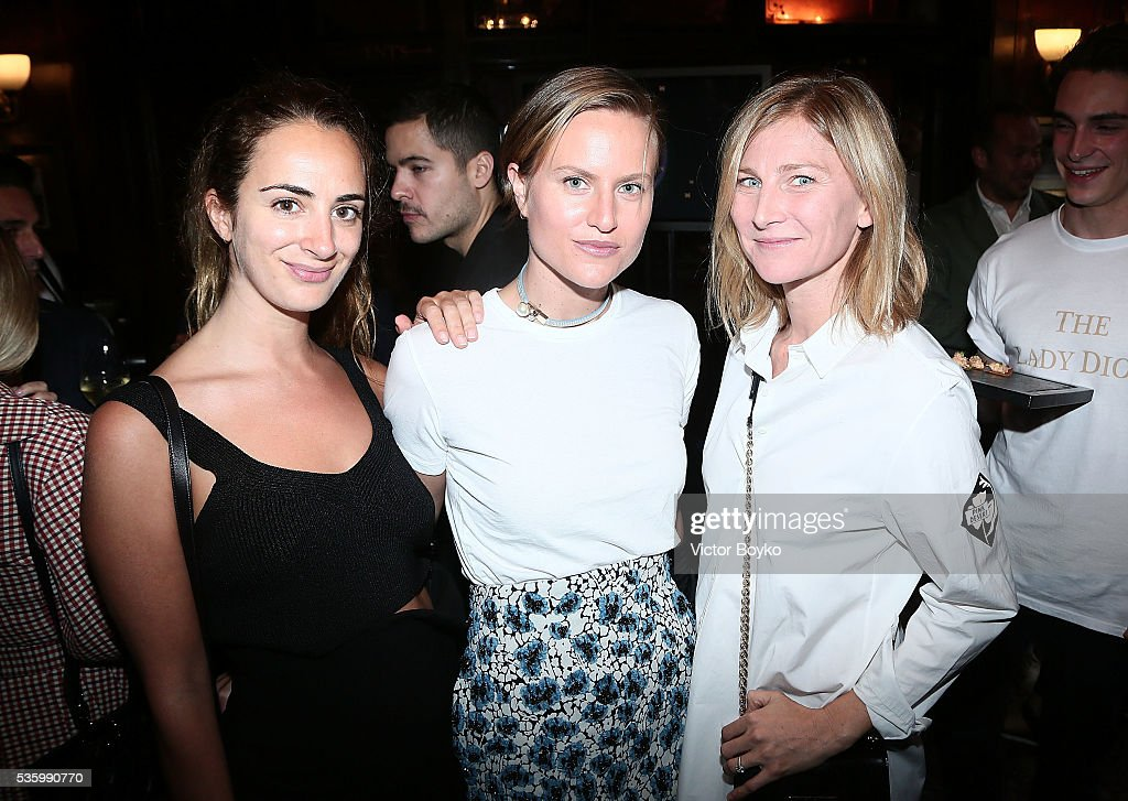 Alexia Niedzielski, Olympia Scarry and Elizabeth Von Guttman attend the Dior Welcome Dinner at the Lady Dior Pub to celebrate the Cruise Collection 2017 on May 30, 2016 in London, England.