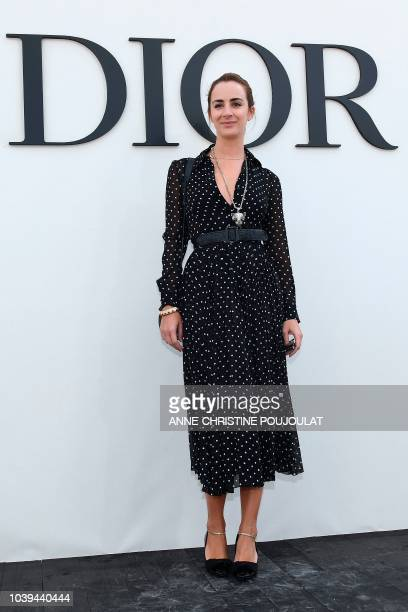 Alexia Niedzielski poses during the photocall prior to the Christian Dior's SpringSummer 2019 ReadytoWear collection fashion show in Paris on...