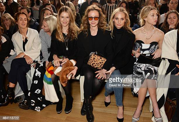 Alexia Niedzielski Sophia Hesketh Eugenie Niarchos Camilla Al Fayed Lauren Santo Domingo and Whitney Port attend the ISSA Autumn/Winter 2015 Runway...