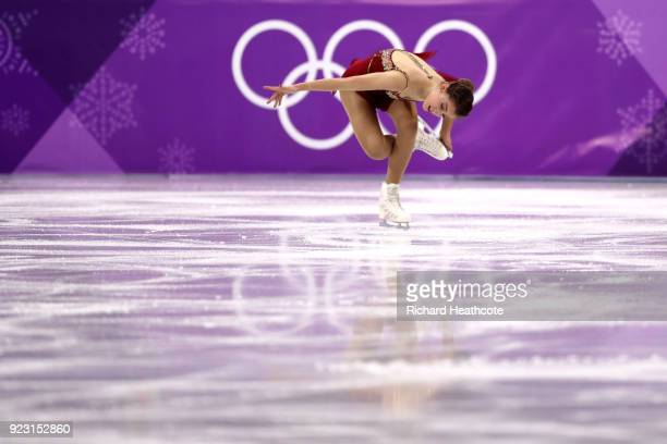 Alexia Paganini of Switzerland competes during the Ladies Single Skating Free Skating on day fourteen of the PyeongChang 2018 Winter Olympic Games at...
