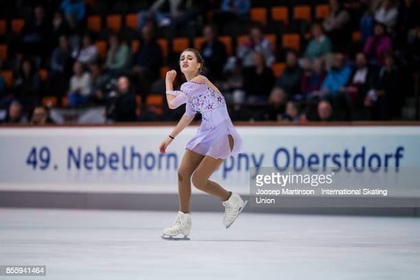 Alexia Paganini of Switzerland competes in the Ladies Free Skating during the Nebelhorn Trophy 2017 at Eissportzentrum on September 30 2017 in...