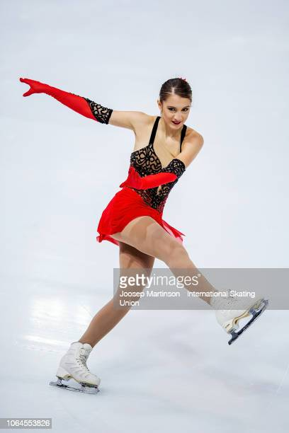 Alexia Paganini of Switzerland competes in the Ladies Short Program during day 1 of the ISU Grand Prix of Figure Skating Internationaux de France at...