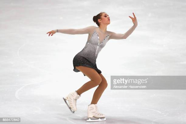 Alexia Paganini of Switzerland performs at the Ladies short program during the 49 Nebelhorn Trophy 2017 at Eishalle Oberstdorf on September 29 2017...