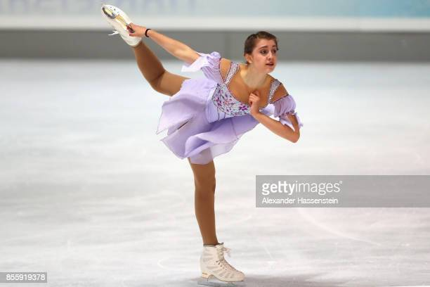 Alexia Paganini of Swizerland performs at the Ladies free skating during the 49 Nebelhorn Trophy 2017 at Eishalle Oberstdorf on September 30 2017 in...