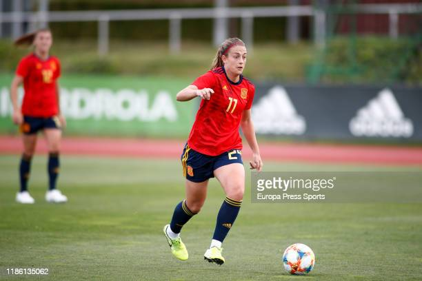 Alexia Putellas in action during a Spain training session at Ciudad del Futbol of Las Rozas on November 07 2019 in Las Rozas Spain