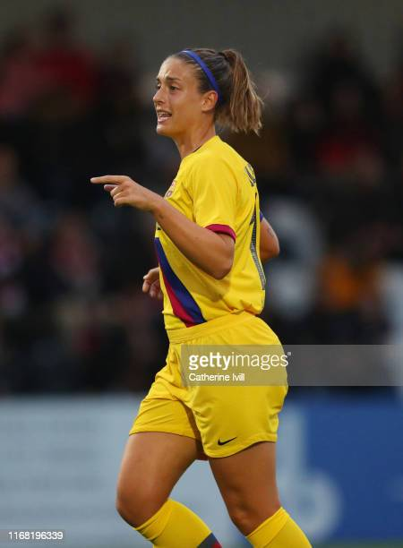 Alexia Putellas of Barcelona during the Pre Season friendly between Arsenal Women and Barcelona Femini at Meadow Park on August 14 2019 in...