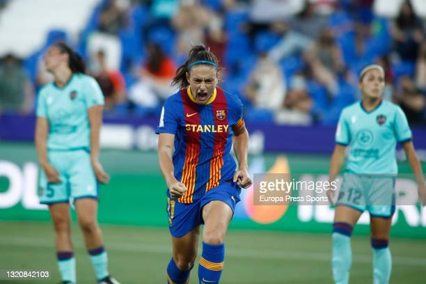 Alexia Putellas of FC Barcelona celebrates a goal during the spanish women cup, Copa de la Reina, Final match played between FC Barcelona and Levante...