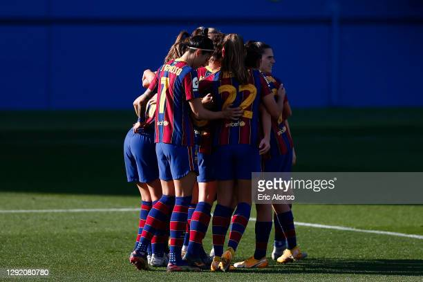 Alexia Putellas of FC Barcelona celebrates scoring his side's first goal in the 11th minute during the Primera Division Femenina match between FC...