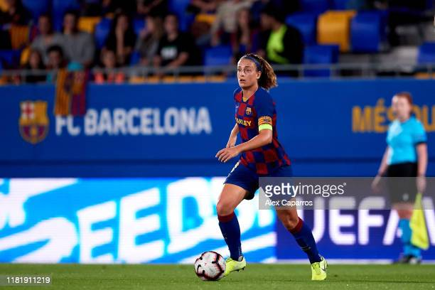Alexia Putellas of FC Barcelona conducts the ball during the UEFA Women's Champions League Round of 16 1st Leg match between FC Barcelona and FC...