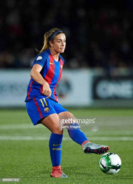 Alexia Putellas of FC Barcelona controls the ball during the UEFA Women's Champions League match between Rosengard and FC Barcelona at Malmo...