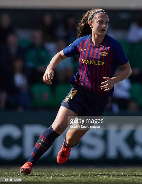 Alexia Putellas of FC Barcelona in action during the La Liga Iberdrola first division match between Real Betis Balompie and FC Barcelona at Ciudad...