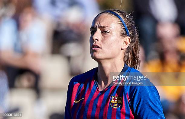 Alexia Putellas of FC Barcelona looks on during the Iberdrola Women's First Division match between FC Barcelona and RCD Espanyol at the Ciutat...