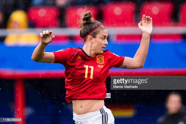 Alexia Putellas of Spain in action during the 2019 FIFA Women's World Cup France group B match between Germany and Spain at Stade du Hainaut on June...