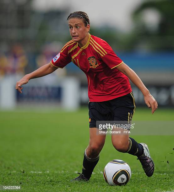 Alexia Putellas of Spain in action during the FIFA U17 Women's World Cup Quarter Final match between Spain and Brazil at the Ato Boldon Stadium on...