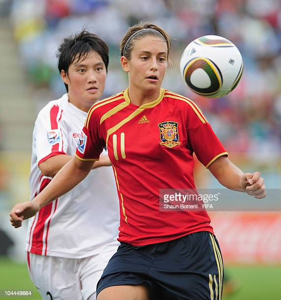 Alexia Putellas of Spain in action during the FIFA U17 Women's World Cup 3rd Place Playoff match between Spain and North Korea at the Hasely Crawford...