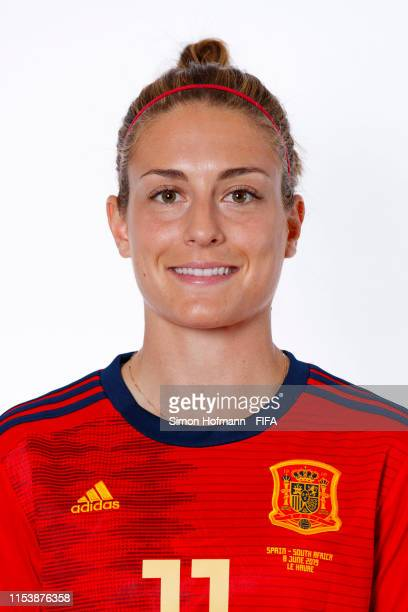 Alexia Putellas of Spain poses for a portrait during the official FIFA Women's World Cup 2019 portrait session at Hotel Barriere Le Normandy on June...