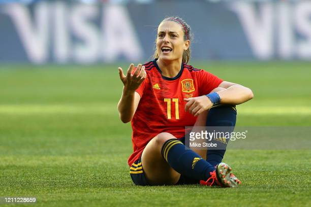 Alexia Putellas of Spain reacts during the match against the United States at Red Bull Arena on March 08, 2020 in Harrison, New Jersey.