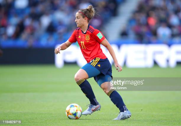 Alexia Putellas of Spain runs with the ball during the 2019 FIFA Women's World Cup France group B match between Spain and South Africa at Stade...