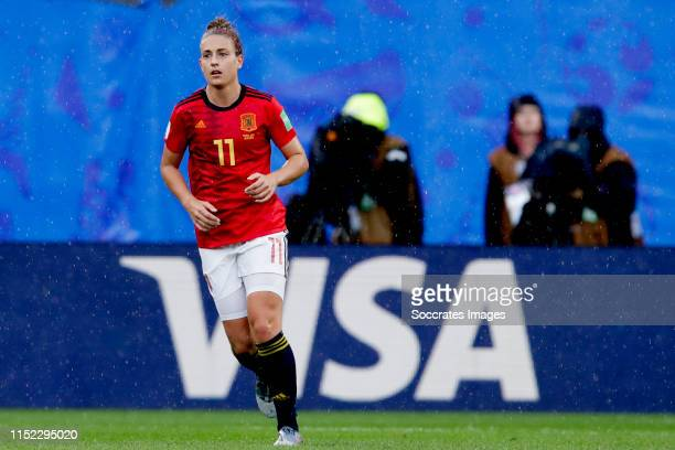 Alexia Putellas of Spain Women during the World Cup Women match between Germany v Spain at the Stade du Hainaut on June 12, 2019 in Valenciennes...