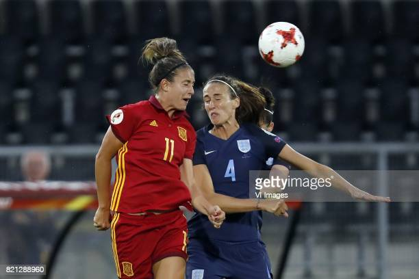 Alexia Putellas of Spain women Jill Scott of England women during the UEFA WEURO 2017 Group D group stage match between England and Spain at the Rat...