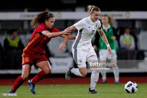 Alexia Putellas Segura of Spain Women Alexandra Popp of Germany Women during the International Friendly Women match between Germany v Spain at the...