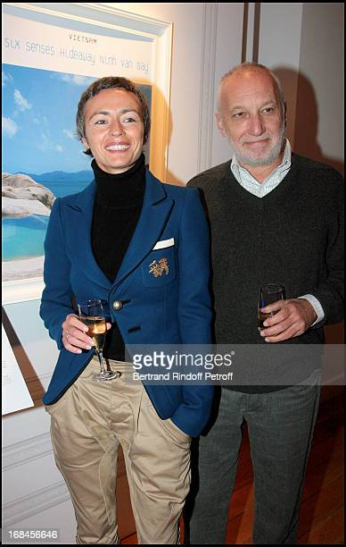 Alexia Stresi and Francois Berleand at Private View Of The Exhibition Les Rendez Vous Du Voyage De Luxe At The Hotel Dassault Artcurial