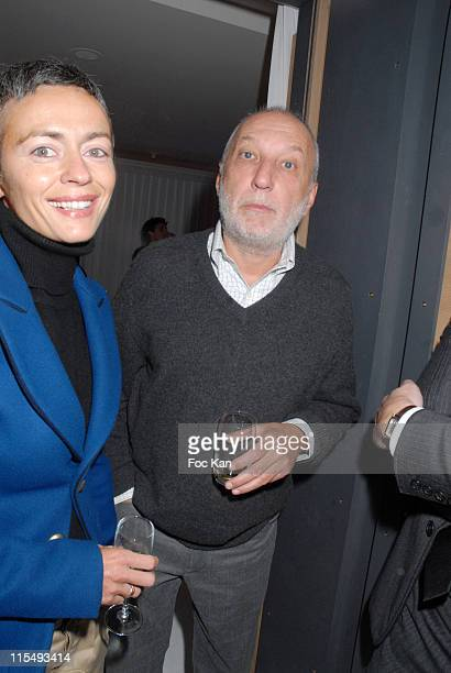 Alexia Stresi and Francois Berleand attend the Voyages de Luxe Cocktail Party at the Hotel Dassault on February 01 2008 in Paris France