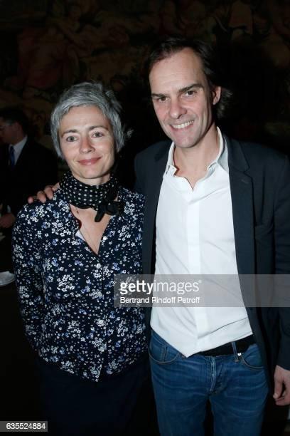 Alexia Stresi and Sebastien Thiery attend Francois Berleand is elevated to the rank of 'Officier de la Legion d'Honneur' at Hotel de Matignon on...