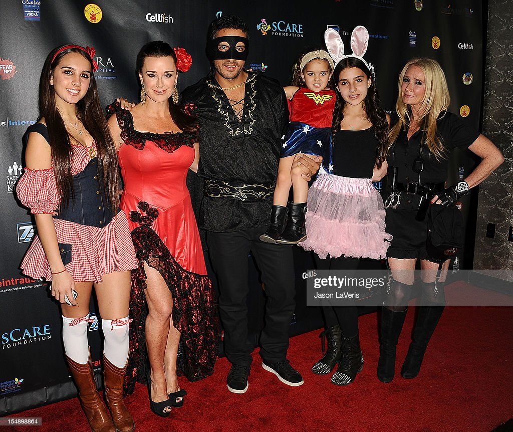 Alexia Umansky, Kyle Richards, Mauricio Umansky, Portia Umansky, Sophia Umansky and Kim Richards attend the sCare Foundation's 2nd annual Halloween benefit event at The Conga Room at L.A. Live on October 28, 2012 in Los Angeles, California.
