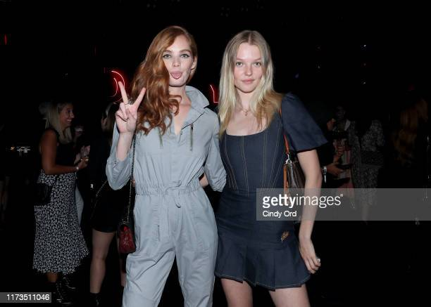 Alexina Graham and Roos Abels attend as DKNY turns 30 with special live performances by Halsey and The Martinez Brothers at St Ann's Warehouse on...