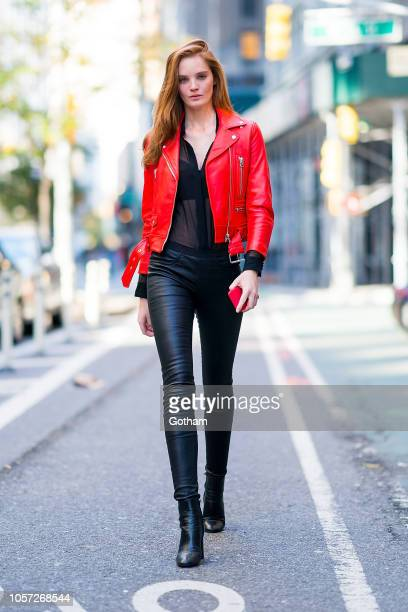 Alexina Graham attends fittings for the 2018 Victoria's Secret Fashion Show in Midtown on November 4 2018 in New York City