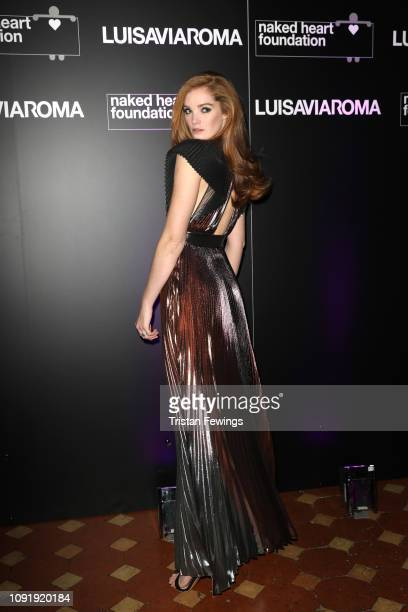 Alexina Graham attends LuisaViaRoma and Naked Heart Foundation Dinner on January 09, 2019 in Florence, Italy.