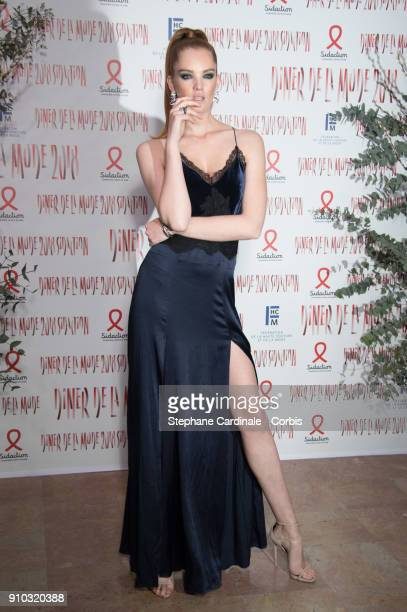 Alexina Graham attends the 16th Sidaction as part of Paris Fashion Week on January 25, 2018 in Paris, France.