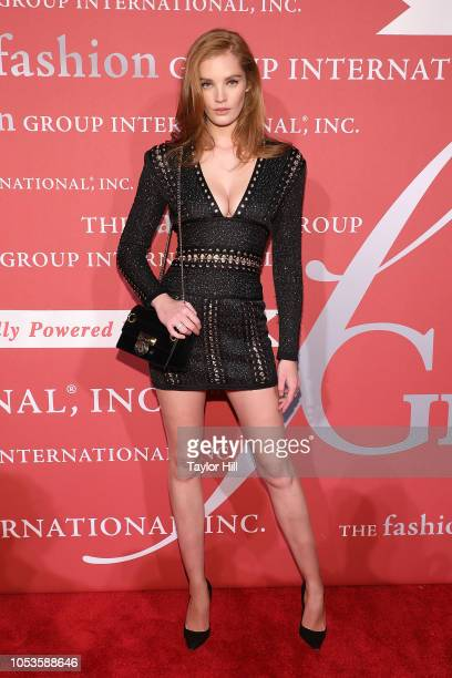 Alexina Graham attends the 2018 Fashion Group International Night of Stars Gala at Cipriani Wall Street on October 25 2018 in New York City