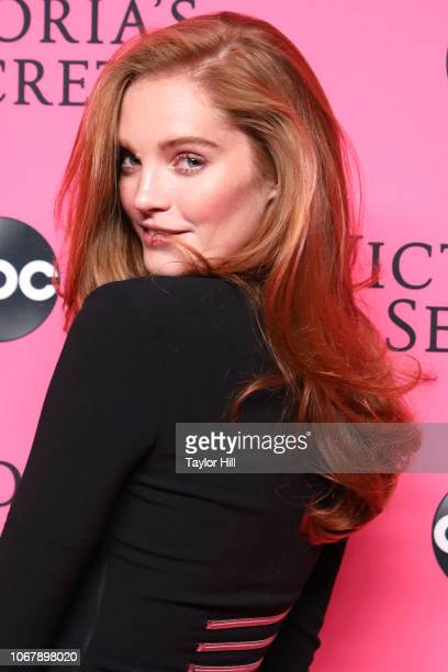 Alexina Graham attends the 2018 Victoria's Secret Fashion Show Viewing Party at Spring Studios on December 2 2018 in New York City