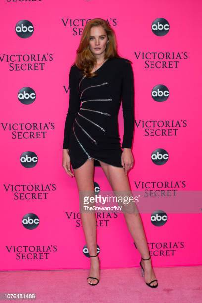 Alexina Graham attends the 2018 Victoria's Secret Fashion Show viewing party at Spring Studios on December 02, 2018 in New York City.