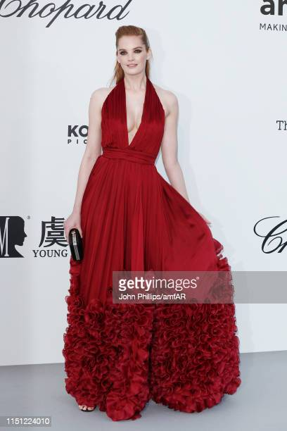 Alexina Graham attends the amfAR Cannes Gala 2019 at Hotel du Cap-Eden-Roc on May 23, 2019 in Cap d'Antibes, France.