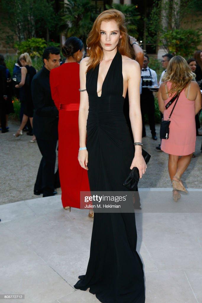 Alexina Graham attends the amfAR Paris Dinner 2017 at Le Petit Palais on July 2, 2017 in Paris, France.