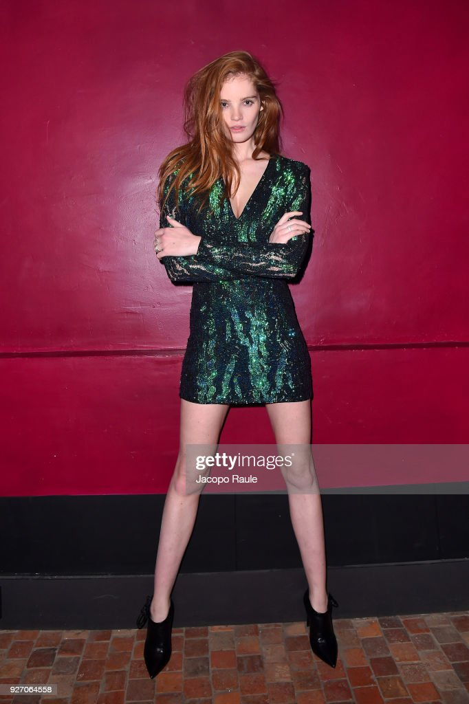 Alexina Graham attends The Balmain after show as part of the Paris Fashion Week Womenswear Fall/Winter 2018/2019 on March 2, 2018 in Paris, France.
