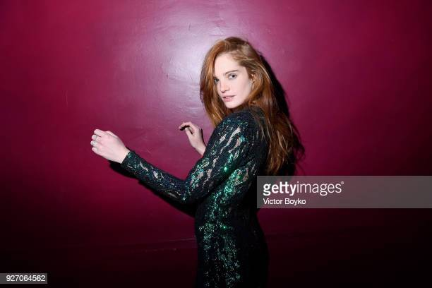 Alexina Graham attends The Balmain after show as part of the Paris Fashion Week Womenswear Fall/Winter 2018/2019 on March 2 2018 in Paris France