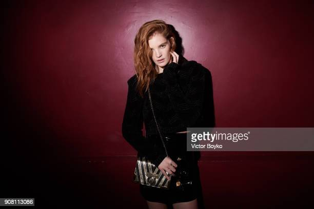 Alexina Graham attends the Balmain Homme Menswear Fall/Winter 20182019 aftershow as part of Paris Fashion Week on January 20 2018 in Paris France