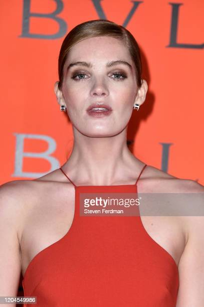 Alexina Graham attends the Bvlgari Bzero1 Rock collection event at Duggal Greenhouse on February 06 2020 in Brooklyn New York