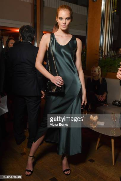 Alexina Graham attends the Naked Heart France Gala Dinner as part of the Paris Fashion Week Womenswear Spring/Summer 2019 at Le Boeuf Sur Le Toit on...