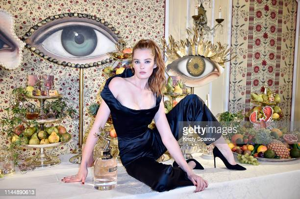 Alexina Graham attends the Scandal A Paris JeanPaul Gaultier's New Fragrance Launch Dinner Party at Lassere on April 24 2019 in Paris France