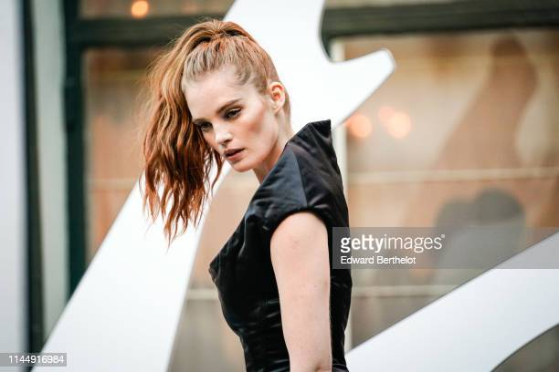 Alexina Graham attends the Scandal A Paris JeanPaul Gaultier's New Fragance Launch Dinner Party At Lassere on April 24 2019 in Paris France