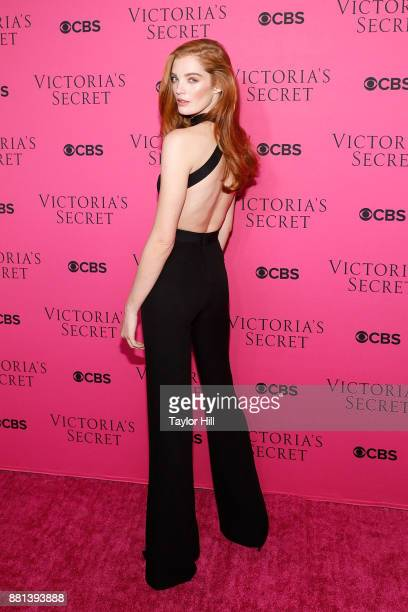 Alexina Graham attends the Victoria's Secret Viewing Party Pink Carpet celebrating the 2017 Victoria's Secret Fashion Show in Shanghai at Spring...