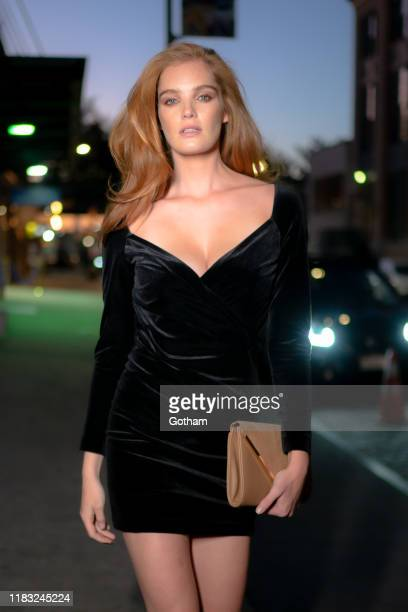 Alexina Graham is seen in the Meatpacking District on October 24, 2019 in New York City.